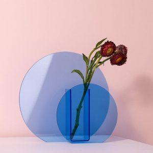 mavi büyük çember vazo