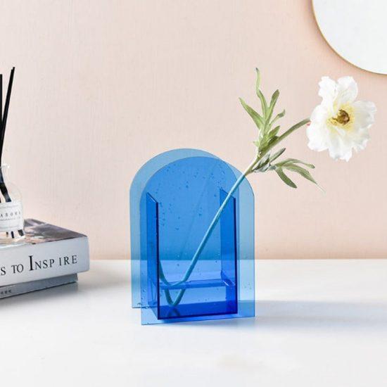 mavi vazo ürünü