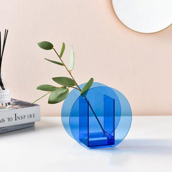 mavi çember vazo ürünü
