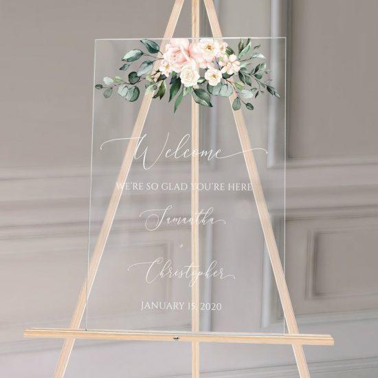 Çiçekli Düğün Tabelası 26