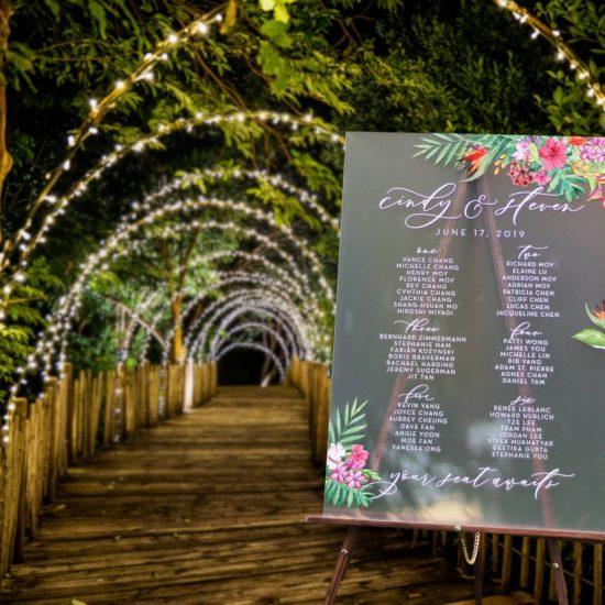 Akrilik Düğün Oturma Planı 29